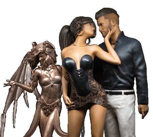 3D printing full color figurines directly from DAZ Studio [Source: GamePrint]