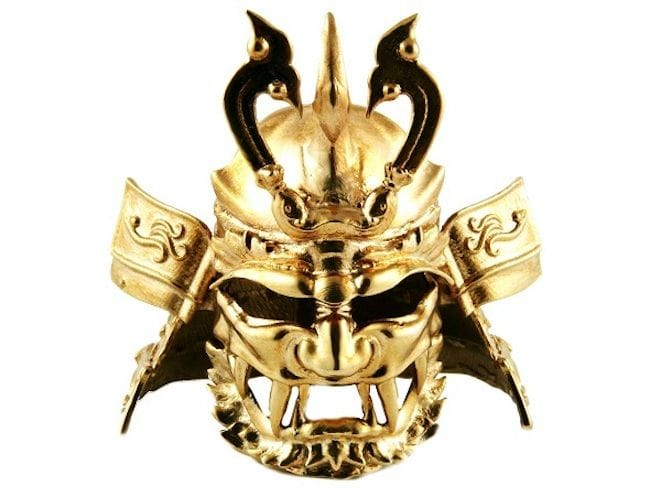 3D Printed Samurai Helmet (Kabuto) in Bronze. Motif: Fujin, God of Wind [Source: i.materialise]
