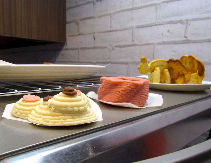 3D printed food samples [Source: Fabbaloo]