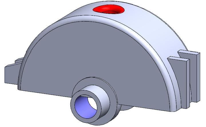 A redesigned replacement part [Source: SOLIDWORKS]