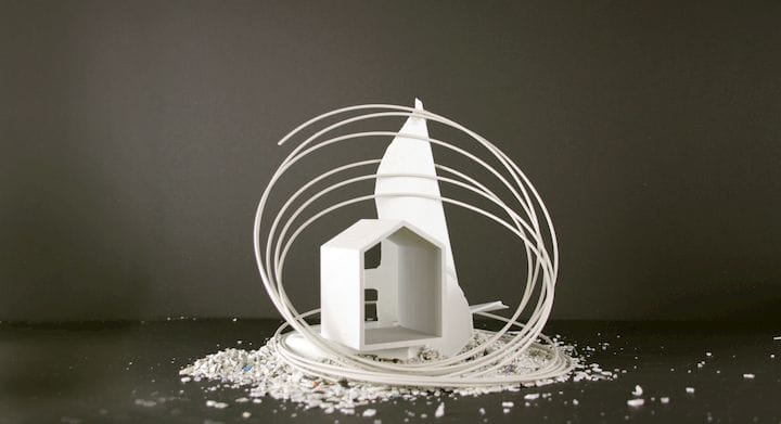 3D print made from recycled refrigerator plastic [Source: Refil]