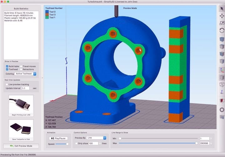 Multi-material processing in Simplify3D 4.1 [Source: Simplify3D]