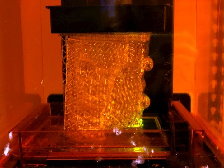 Printing part of a mold for the Coral Cup [Source: Nervous System]