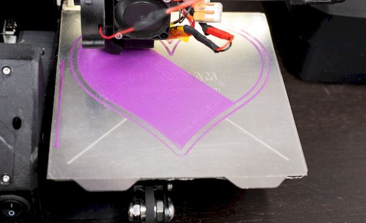 Good first layer 3D print adhesion on this build plate [Source: Wham Bam]