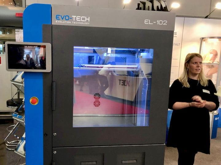 The EVO-TECH EL-102 Engineering 3D Printer [Source: Fabbaloo]