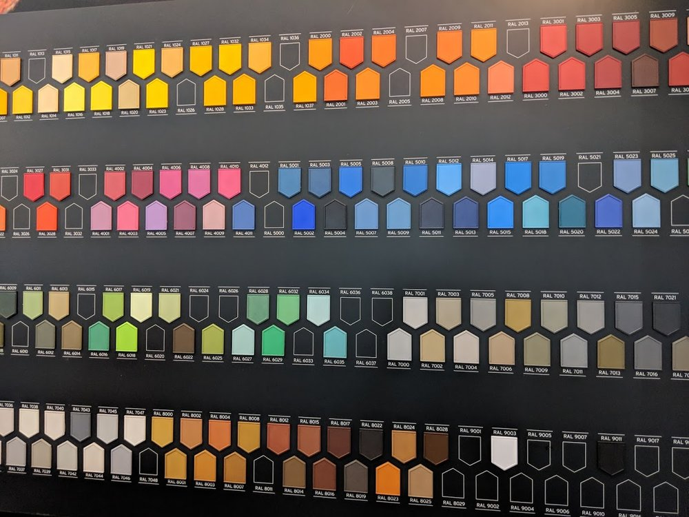 RAL colors available from DyeMansion [Image: Fabbaloo]