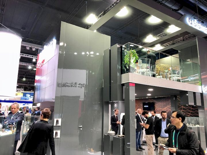 A very flashy exhibition stand at formnext 2018 adjacent to Prusa's modest booth [Source: Fabbaloo]