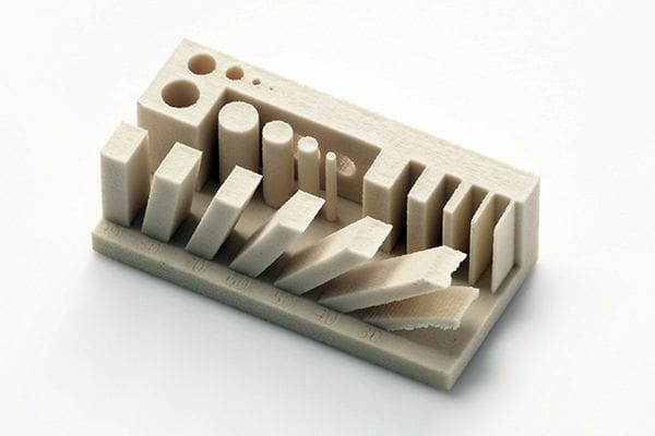 Test 3D print showing the capabilities of a new ceramic material [Source: Canon]