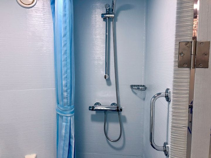 Shower area in the 3D printed toilet unit [Source: Fabbaloo]