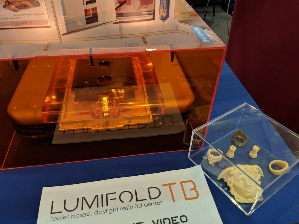 The tablet-based Lumifold TB 3D printer at formnext 2018 [Image: Fabbaloo]
