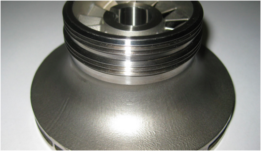 3D Printed shrouded impeller from Ingersoll-Rand [Source: PostProcess Technologies ]