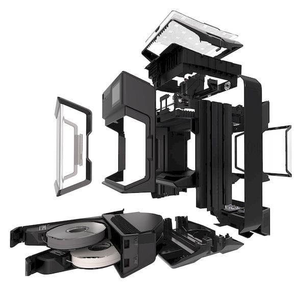 MakerBot's new Method 3D printer - exploded view [Source: MakerBot]