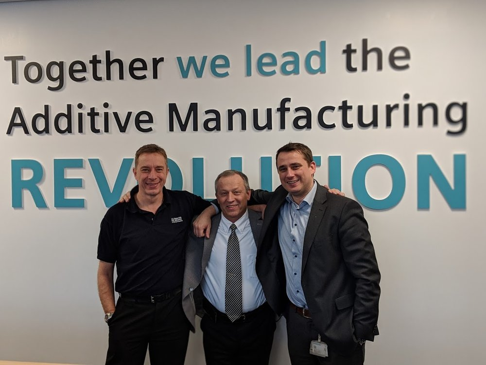 Phil, Vladimir, and Markus embody the spirit of togetherness driving additive manufacturing forward [Image: Fabbaloo]