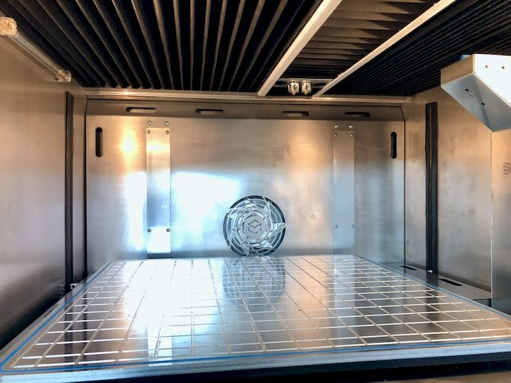 Inside the build chamber on the VSHAPER 500 MED medical 3D printer [Source: Fabbaloo]