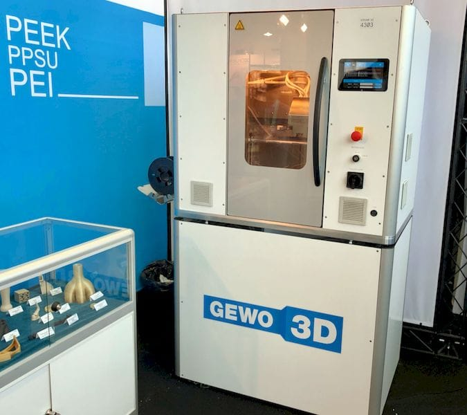 The high-temperature HTP 260 from GEWO 3D [Source: Fabbaloo]