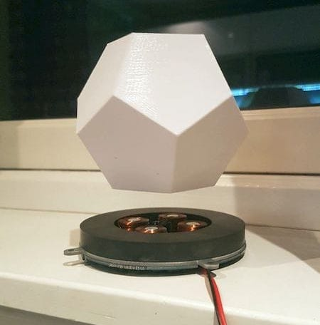 Testing the magnetic levitation module [Source: Instructables]