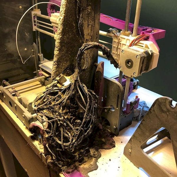 A severely burned Anet A8, again [Source: Ben Ridgway]