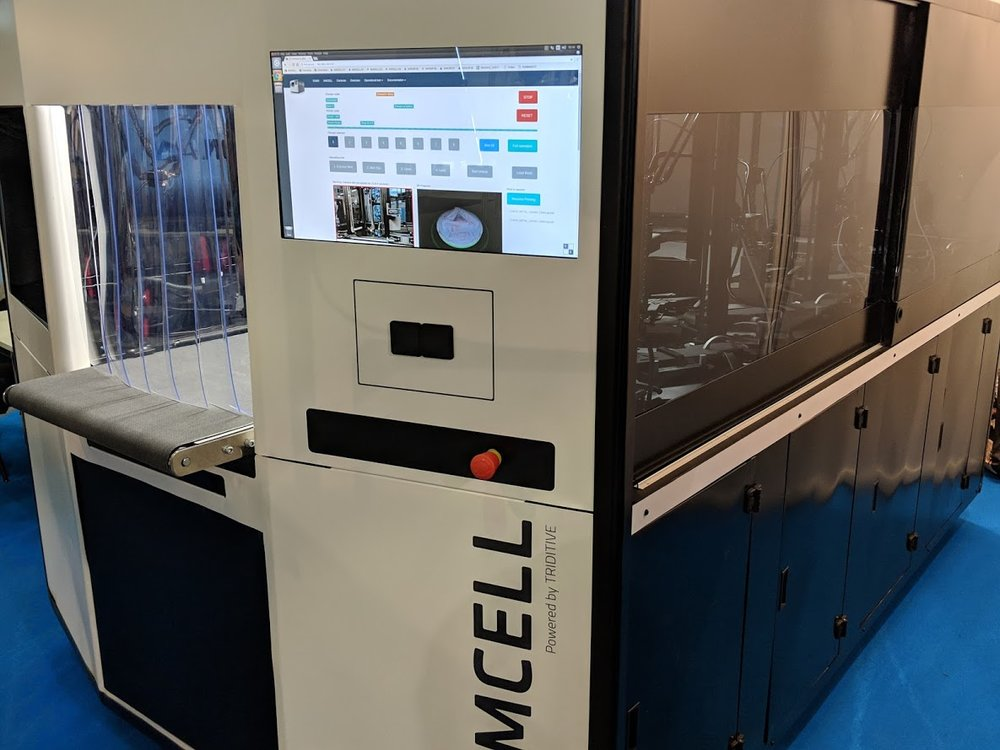 AMCELL running at formnext 2018 [Image: Fabbaloo]