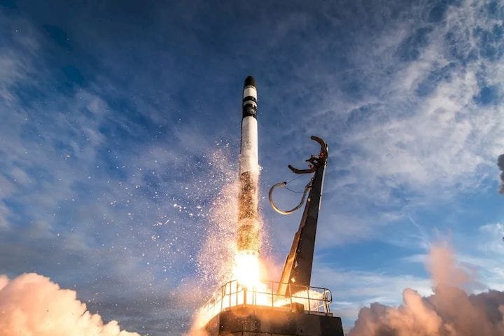 The 3D-printed Electron Launch takes to the sky in its first NASA mission. (Image courtesy of Rocket Lab.)