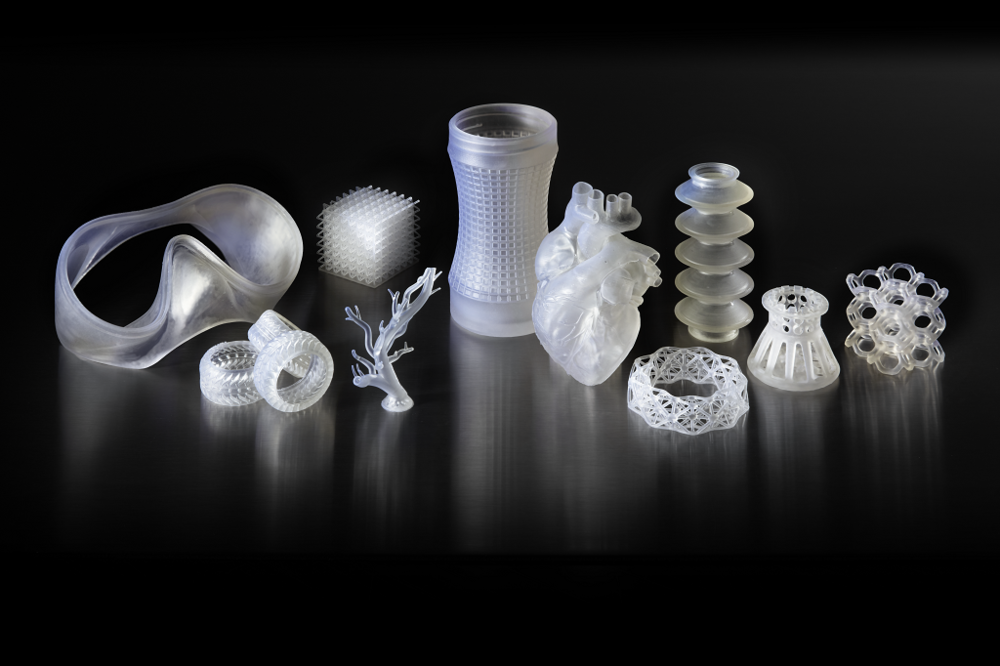 3D printed parts made with Elastic Resin [Image: Formlabs]