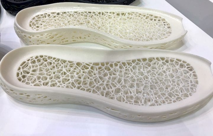Interior of the 3D printed midsole [Source: Fabbaloo]