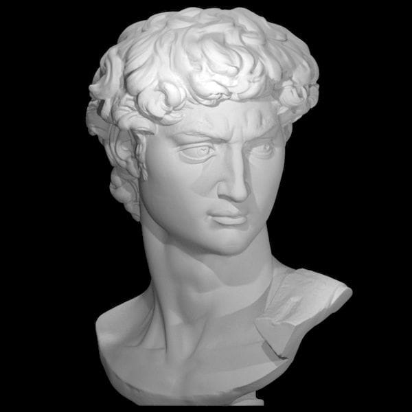 A 3D scan of the original statute of David by Michelangelo [Source: MyMiniFactory]