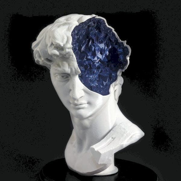 Inside David's Mind, a mashup of the David 3D scan [Source: MyMiniFactory]