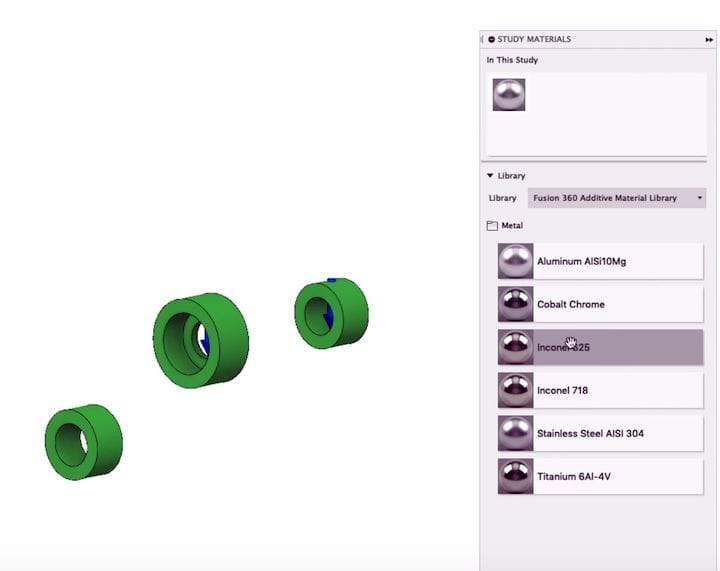 New additive manufacturing materials in the Fusion 360 libraries [Source: Autodesk]