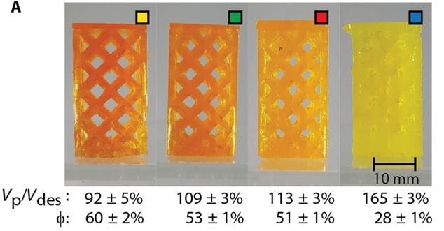3D print samples using the new dual-light printing process [Source: ScienceMag]