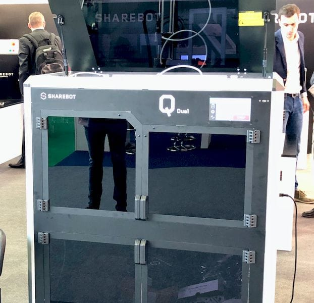 Sharebot's Q Dual Professional 3D Printer [Source: Fabbaloo]