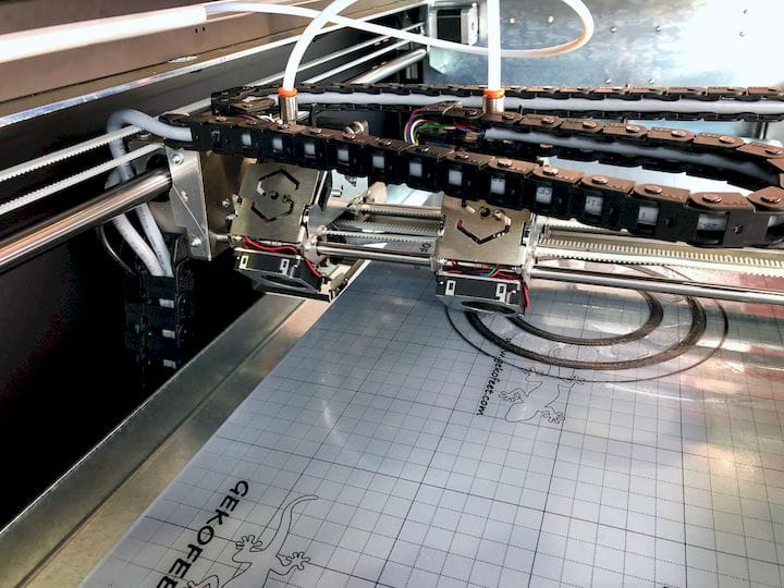 The independent extruders on the Sharebot Q Dual 3D printer [Source: Fabbaloo]