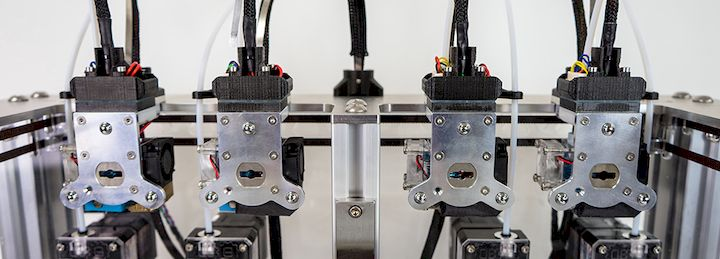 The four stations for the tool-changing 3D printer [Source: E3D-Online]
