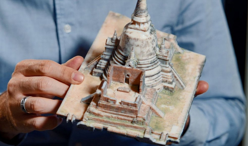A 3D printed model of Ayutthaya temple in Thailand [Image: Stratasys]