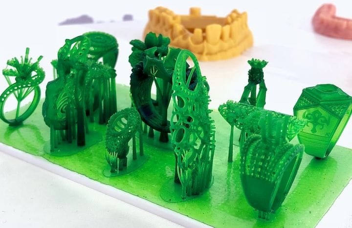 Sample 3D print from the Ackuretta FreeShape 120 resin 3D printer [Source: Fabbaloo]
