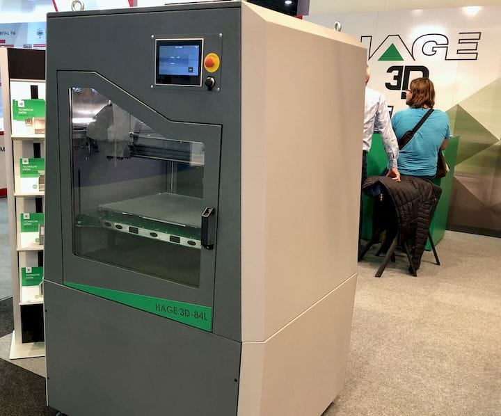 The Hage model 84L industrial 3D printer [Source: Fabbaloo]