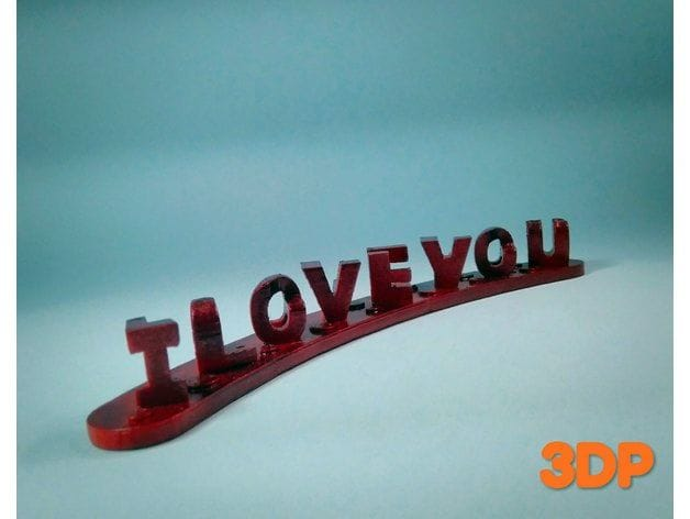 "It's ""I Love You"", and more [Source: Thingiverse]"