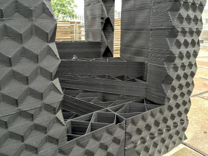 A 3D printed construction experiment in Amsterdam [Source: Fabbaloo]