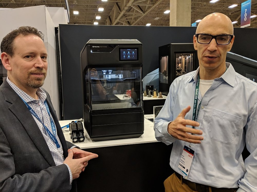 MakerBot's Forrest Leighton (left) and CEO Nadav Goshen (right) [Image: Fabbaloo]