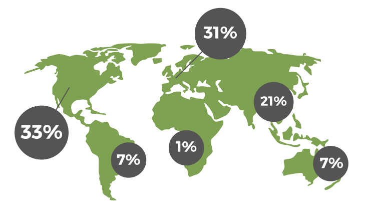 Global talent distribution in the 3D printing industry [Image: ADG]