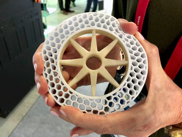 A multi-material print made on the Xioneer Industrial 3D printer [Source: Fabbaloo]