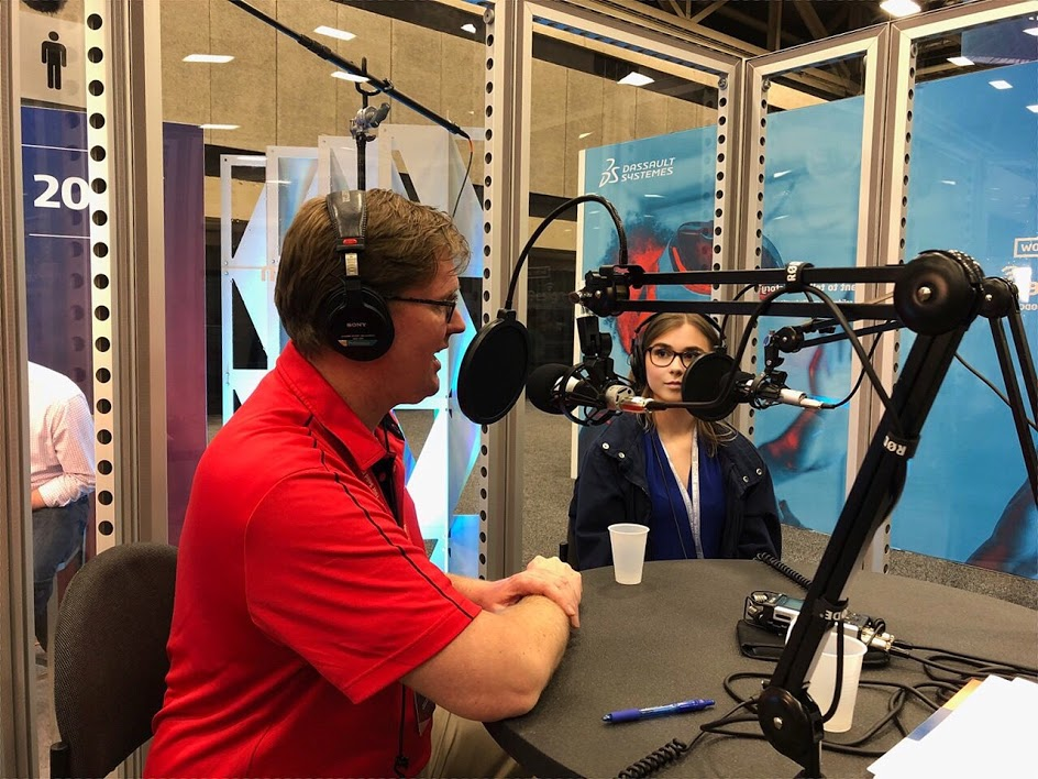 Danielle featured on the SOLIDWORKS Born to Design podcast [Image: Danielle Boyer]