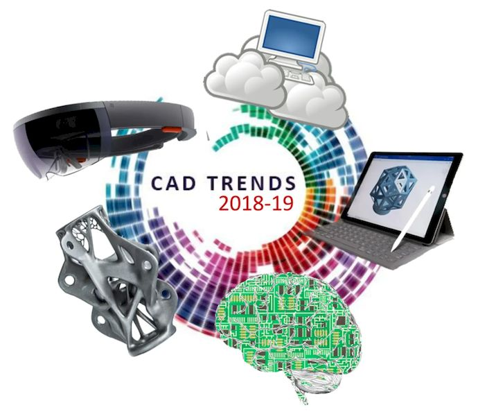 Cloud CAD, mobile CAD, artificial intelligence, generative design, AR/VR—will any of these technologies transform the nature of CAD? (Images courtesy of Business Advantage, Microsoft, Arup, Genghiskanhg, and百楽兎.)