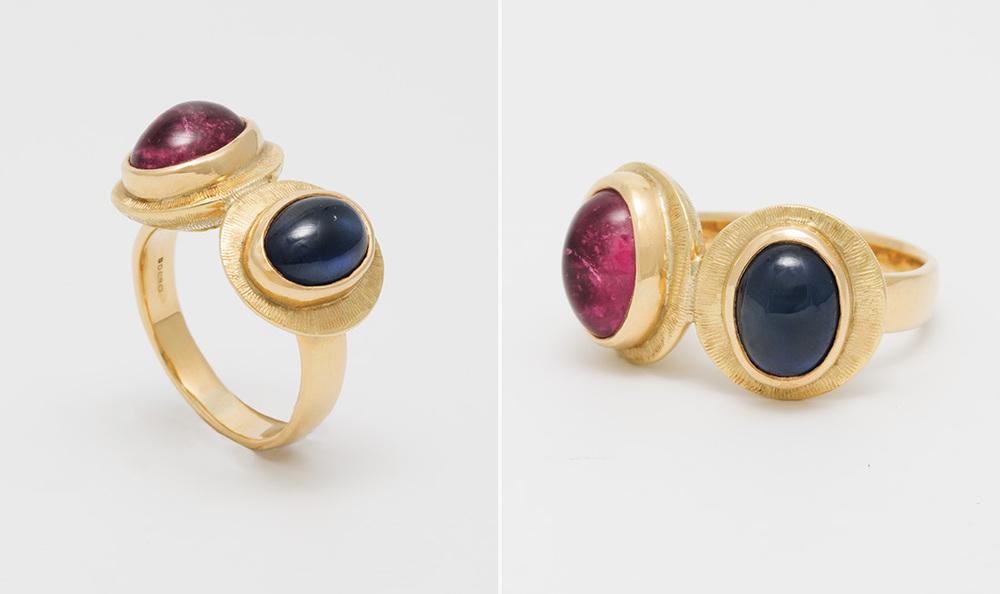 Sapphire & Tourmaline Ring