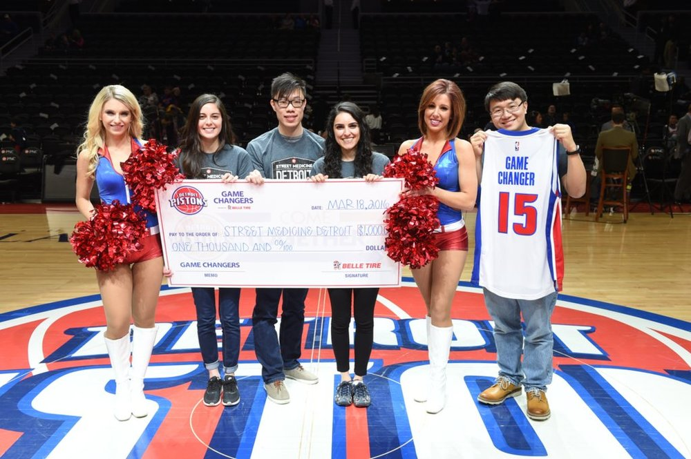 Detroit Pistons organization names Street Medicine 'Game Changers' - Mar 2016