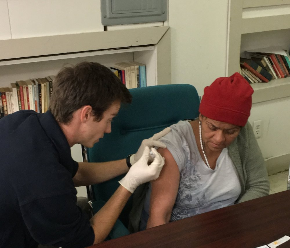 During flu season, Street Medicine Detroit provides flu shots to protect our patients from viral infections