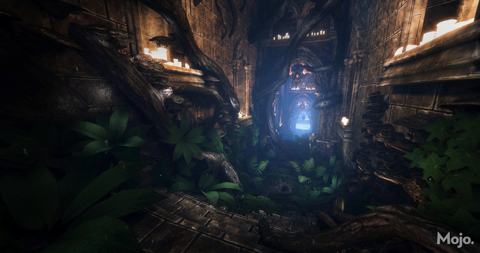 In-game still: Interior of the Titanwood Shrine