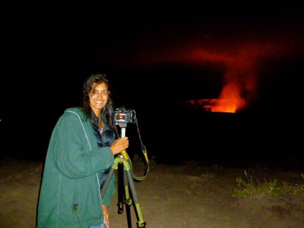 Deena experiencing a rare volcanic eruption - Hawaii