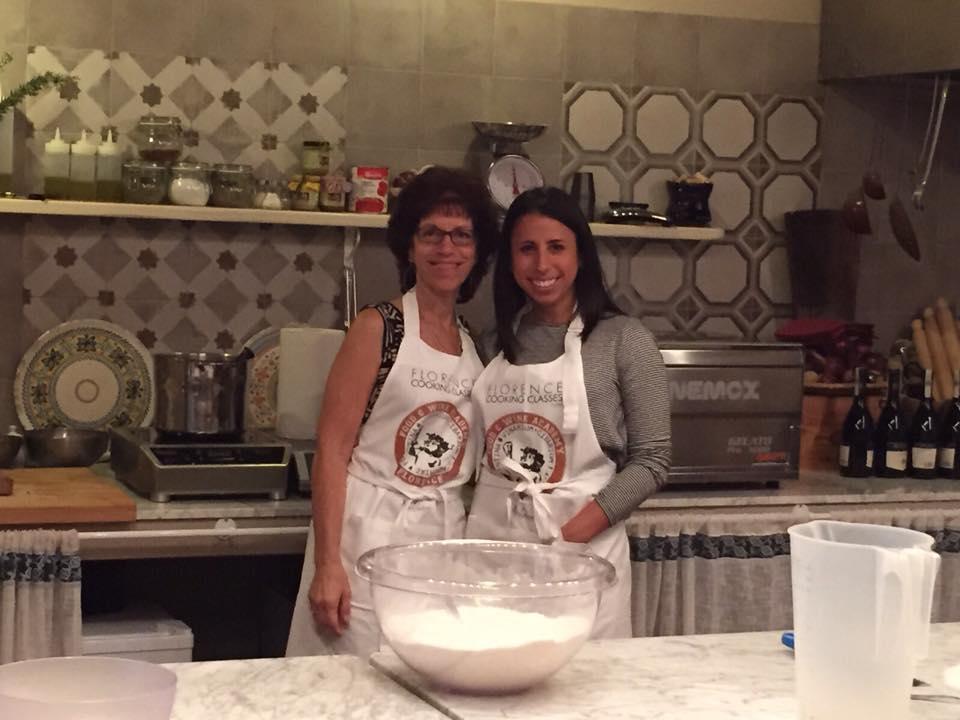 Janet & Caitlin Making Ravioli