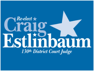 Re-elect Craig Estlinbaum 130th District Court Judge