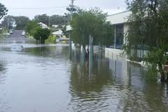 Old Club under flood waters, March 2009